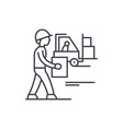 loading goods line icon concept loading goods vector image vector image