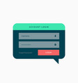 login template design in chat bubble style with vector image