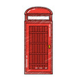 london telephone booth public traditional vector image vector image