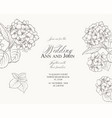 marriage invitation card with custom sign vector image