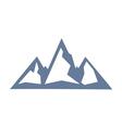 mountain icon1 vector image vector image