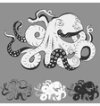 Octopus with curling tentacles vector image vector image