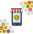 online shopping and sales vector image