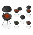 Opened and closed barbecue grill set vector image vector image