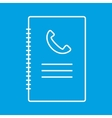 Phone book thin line icon vector image