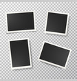 photo frames set on transparent background vector image