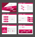 Pink purple presentation templates Infographic vector image vector image