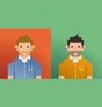pixel men vector image vector image