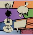 pop art vintage background comic balloon vector image vector image