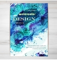 Poster Template with Watercolor Splash vector image