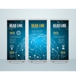 roll up banner template cosmos science concept vector image vector image
