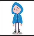 sad boy character vector image vector image