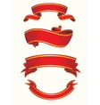 Set of red ribbon vector image