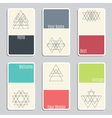 Set of visit cards with geometric figures vector image