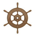 ship steering wheel nautical vector image vector image