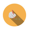 signing hand icon vector image vector image