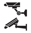 Silhouettes of CCTV cameras vector image