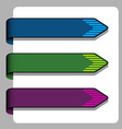 striped arrow ribbon signs vector image vector image