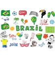Symbols of Brazil vector image