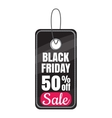 Tag black friday sale discount icon cartoon style vector image vector image