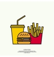 The concept of fast food vector image