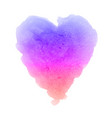 watercolor gradient textured heart painting vector image vector image