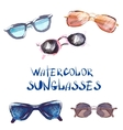 watercolor set Sunglasses vector image vector image