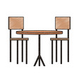 wooden table and chairs scribble vector image vector image