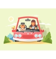 Safe driving in car vector image