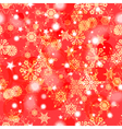 Shiny red winter seamless pattern vector image
