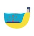 Alternative energy water turbine vector image