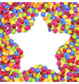 frame of star colored candies vector image