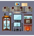 Living room interior with furniture Concept vector image