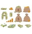 Money symbols set vector image