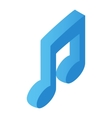 Music note isometric 3d icon vector image