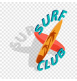 surf club isometric icon vector image