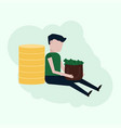 a guy with a lot of money vector image