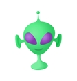 Alien icon in cartoon style vector image