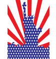 america liberty or 4th july independent day vector image vector image