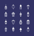 antique arabic ramadan light lanterns muslim vector image