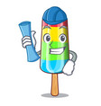 architect character beverage colorful ice cream vector image