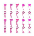 baby pins set 1 isolated in vector image