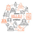 baggage luggage line icon vector image