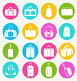 bags icon set flat 38 vector image vector image