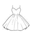 beautiful romantic summer dress with a fluffy vector image vector image