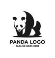 black panda logo vector image