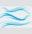 blue ocean wave set on transparent background vector image