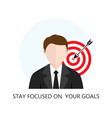 Business Strategy Concept Flat icon vector image vector image