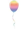 candy rainbow balloon ribbon fantasy isolated vector image
