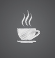 cap of tea sketch logo doodle icon vector image vector image